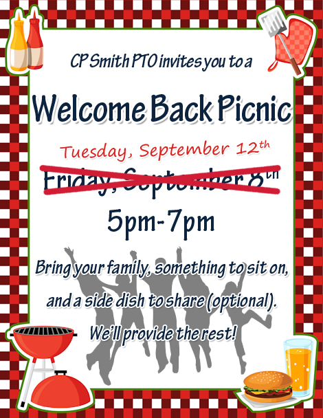 Picnic Reminder 2017 Rescheduled