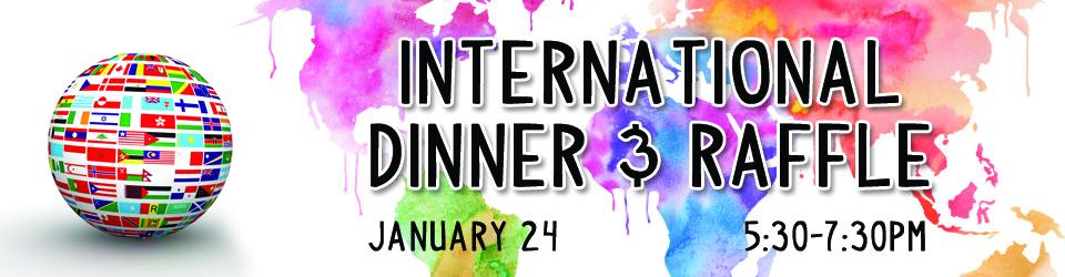 international dinner banner