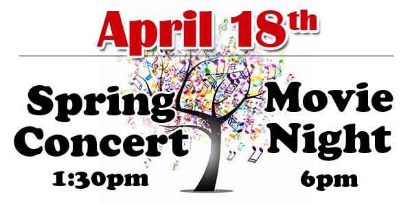 Spring Concert - Movie Night Announcement 2019