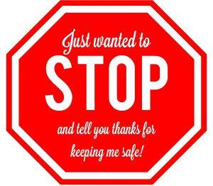 crossing guard stop and tell you thanks